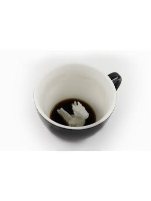 Кружка с Драконом 330мл Creature Cups. Цвет: черный