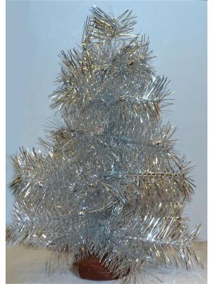 Ель искусственная Серебристая, лавсан  0,3 м Карнавал-Премьер. Цвет: серебристый