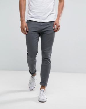 LDN DNM Серые облегающие джинсы. Цвет: рыжий