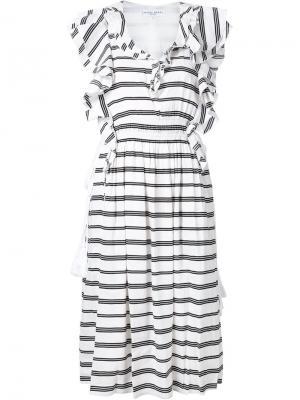 Платье San Rafael с рюшами Apiece Apart. Цвет: белый