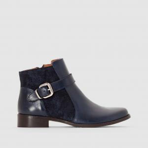 Ботинки кожаные с пряжкой Arap MELLOW YELLOW. Цвет: синий морской