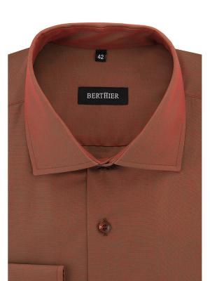 Рубашка BERTHIER. Цвет: терракотовый