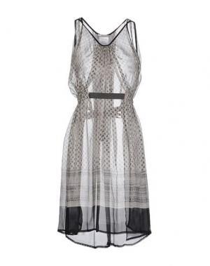 Короткое платье REBEL QUEEN. Цвет: серый