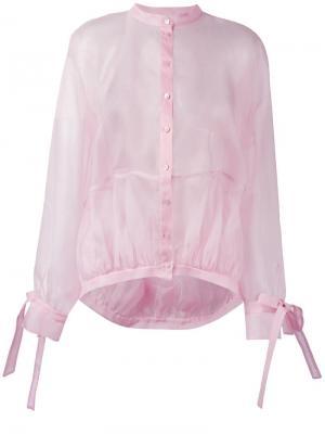 Прозрачная рубашка Antonio Berardi. Цвет: розовый и фиолетовый