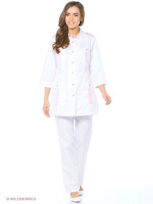Брюки медицинские Med Fashion Lab. Цвет: белый