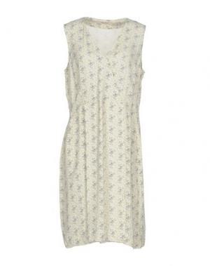 Платье до колена NICE THINGS by PALOMA S.. Цвет: слоновая кость