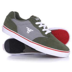 Кеды кроссовки низкие  Slash Surplus Green/Cement Grey Fallen. Цвет: серый,зеленый