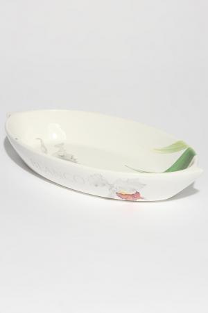 Блюдо Орхидеи Ceramiche Viva. Цвет: белый с рисунком