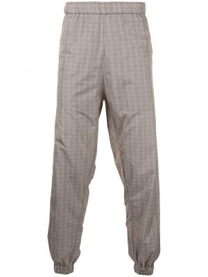 Спортивные брюки в клетку Astrid Andersen. Цвет: коричневый