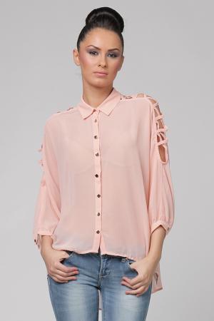 Блузка Nero su Bianco. Цвет: розовый