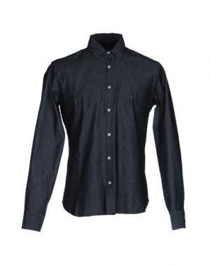 Джинсовая рубашка MYTHS. Цвет: темно-синий