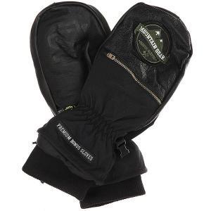 Варежки  Leather Black Bonus Gloves. Цвет: черный