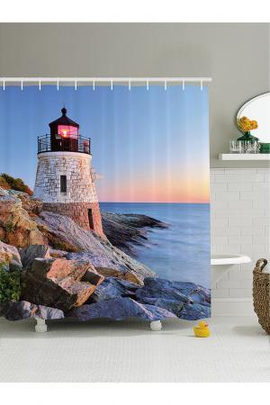 Штора для ванной, 180x200 см MAGIC LADY. Цвет: голубой