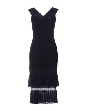 Платье длиной 3/4 ROLAND MOURET. Цвет: синий