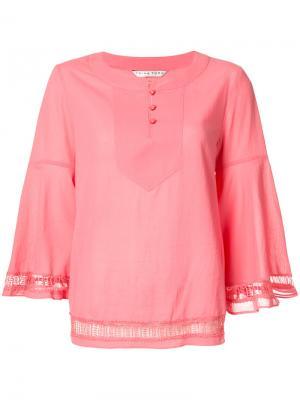Блузка с застежкой на пуговицах Trina Turk. Цвет: розовый и фиолетовый