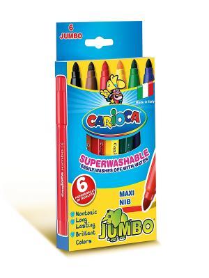 Набор фломастеров CARIOCA JUMBO, 6 цв Universal. Цвет: синий