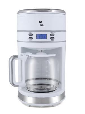 Кофеварка КТ-704-1 белая Kitfort. Цвет: белый