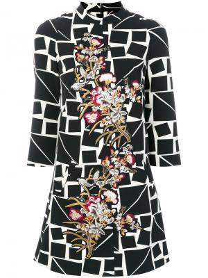 Платье с вышивкой Femme By Michele Rossi. Цвет: многоцветный
