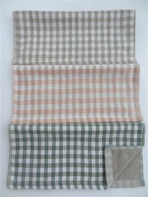 Полотенца кухонные 3 шт A and C Collection. Цвет: зеленый, серый, персиковый