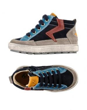 Высокие кеды и кроссовки NATURINO. Цвет: темно-синий