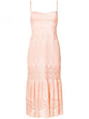 Платье Farrah по фигуре без застежки Three Floor. Цвет: жёлтый и оранжевый