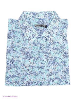 Рубашка IFC. Цвет: зеленый