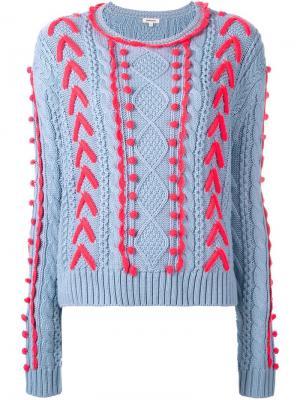 Вязаный свитер Manoush. Цвет: синий
