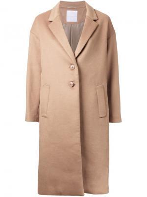 Пальто Chesterfield Cityshop. Цвет: коричневый