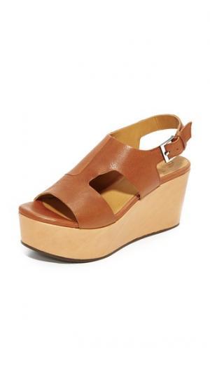Босоножки на танкетке Риптайд Coclico Shoes. Цвет: йорк pagoda