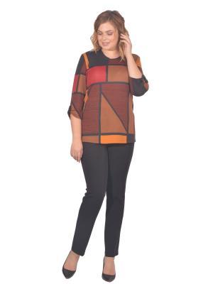 Кофта Томилочка Мода ТМ. Цвет: темно-коричневый, коричневый, оранжевый