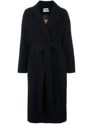 Пальто средней длины с поясом Each X Other. Цвет: чёрный