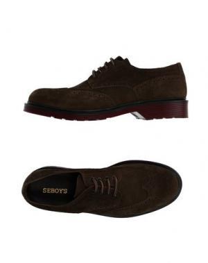 Обувь на шнурках SEBOY'S. Цвет: зеленый-милитари