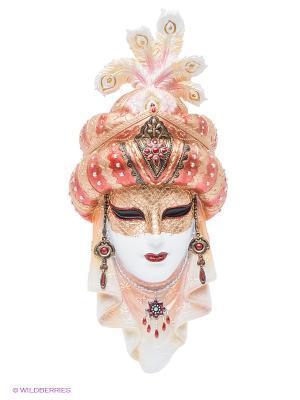 Венецианская маска Шахерезада Veronese. Цвет: золотистый, красный