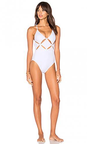 Слитный купальник sookie OYE Swimwear. Цвет: белый