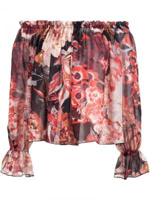 Блузка с цветочным принтом Elizabeth And James. Цвет: многоцветный