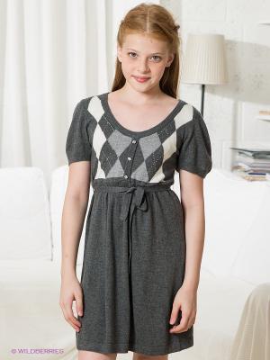Платье SILVER SPOON. Цвет: темно-серый, серый