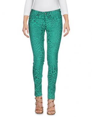 Джинсовые брюки SLY010. Цвет: зеленый