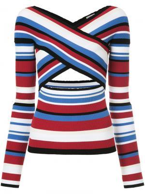 Criss-cross stripe jumper MRZ. Цвет: многоцветный