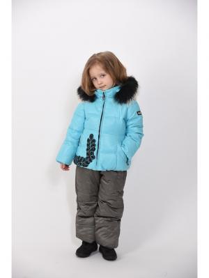 Куртка+полукомбинезон TOPKLAER. Цвет: бирюзовый