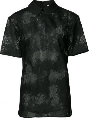 Кружевная рубашка Carven. Цвет: чёрный