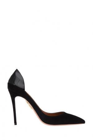 Кожаные туфли Fellini Pump Aquazzura. Цвет: черный