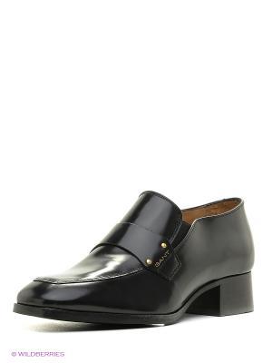 Туфли GANT. Цвет: черный