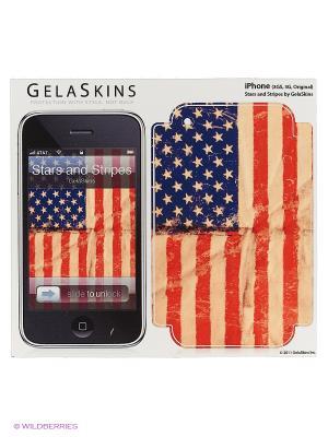Наклейка Stars and Stripes for 3G/3GS Kawaii Factory. Цвет: белый, красный, синий