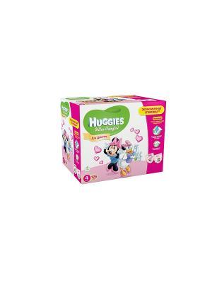 Подгузники Ultra Comfort Размер 4 8-14кг Disney Box 42*3 126шт для девочек HUGGIES. Цвет: розовый