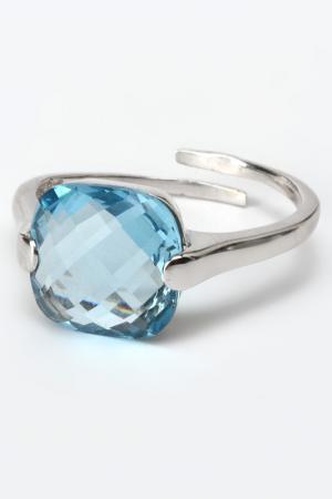 Кольцо ZOCCAI. Цвет: голубой