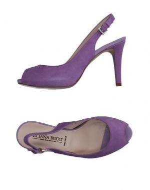 Сандалии ELIANA BUCCI. Цвет: фиолетовый