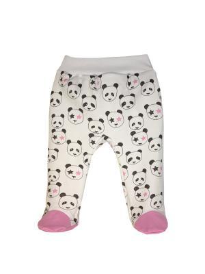 Ползунки коллекция Панды Rock КОТМАРКОТ. Цвет: черный, белый, розовый