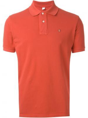 Классическая футболка-поло Aspesi. Цвет: красный