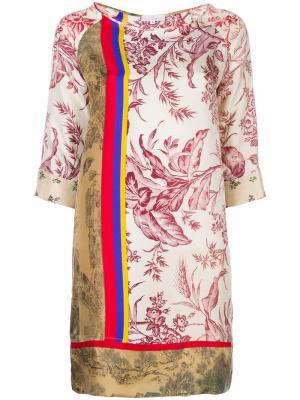 Multi-patterned shift dress Pierre-Louis Mascia. Цвет: розовый и фиолетовый