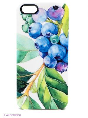 Чехол для iPhone 5/5s Water-colour Blueberry Kawaii Factory. Цвет: белый, синий, зеленый